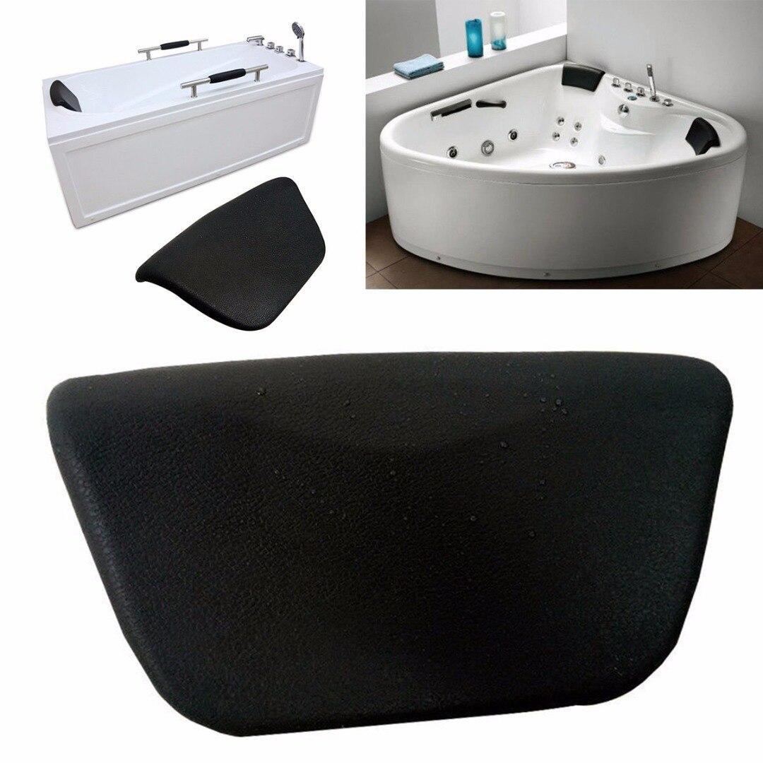 Bathtub Headrest Pillow for Hot Tub Head Rest Neck Support Bathroom Accessories,Black