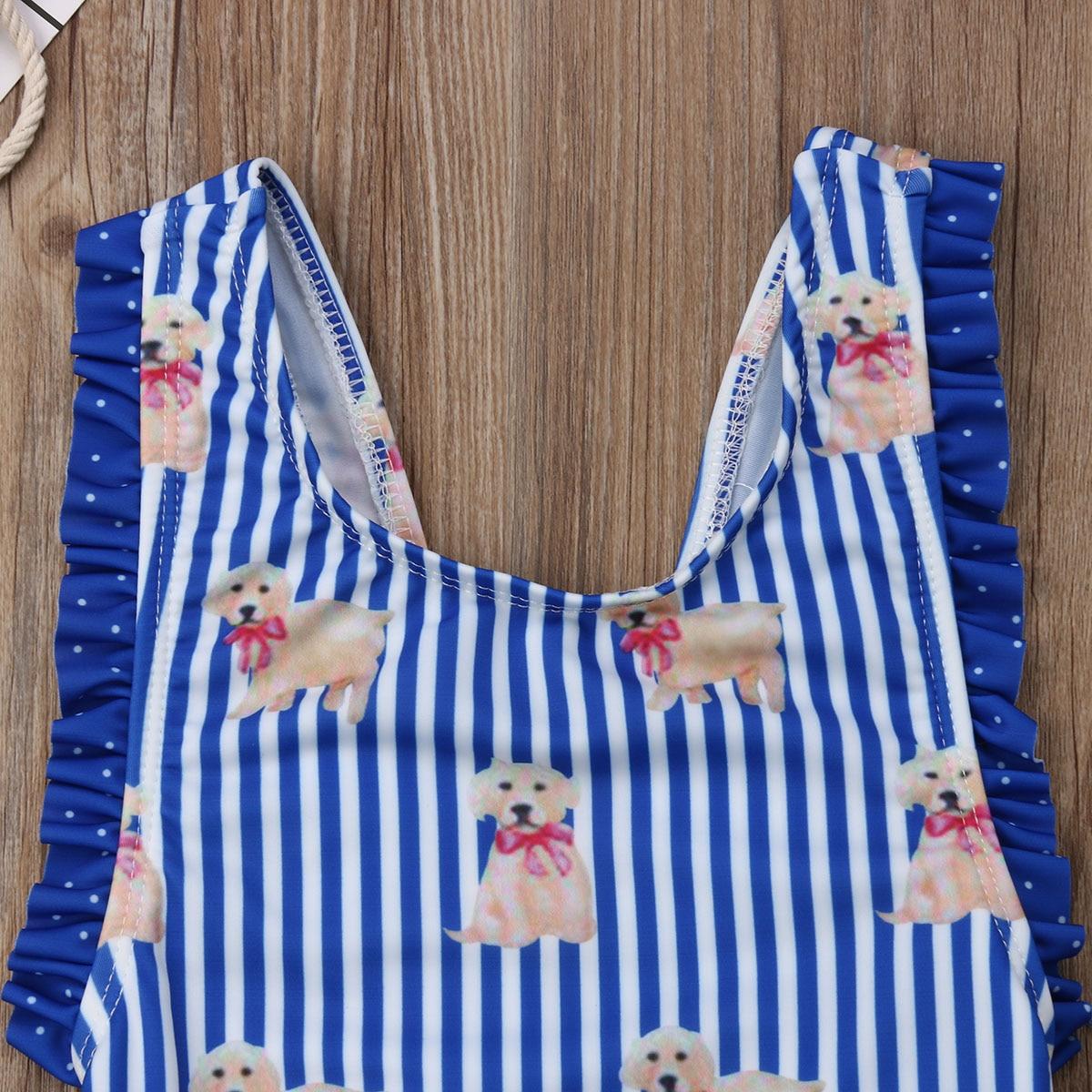Hirigin/милые купальники для маленьких девочек; цельный с рисунком животных; купальный костюм; купальник