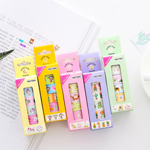 6Pcs/Lot Traveller Series Masking Tape Adhesive DIY Scrapbooking Sticker Label Mobile Phone Decorative Stickers Stationery