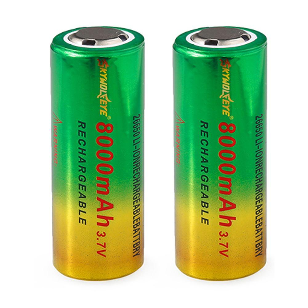 Rechargeable 26650 Battery BRC Li-ion 8000 Mah 3.7v Battery 26650 3.7v 8000mah Li-ion Batteries 26650 Rechargeable Battery