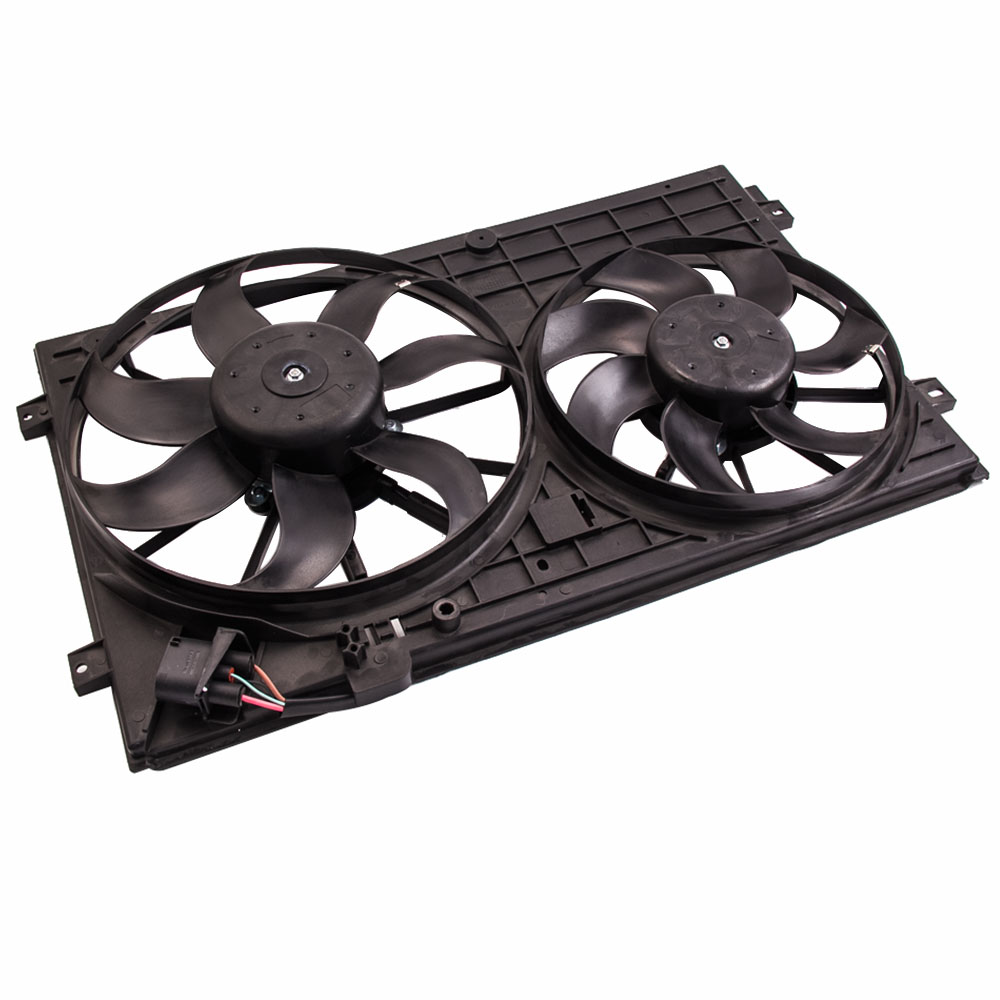 Electric Double Radiator Fan Cooling fan motor for VW GOLF PASSAT for AUDI A3 for Touran
