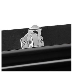 Image 3 - Черная коробка для хранения со стеклянной крышкой и 100 слотами для хранения сережек, колец и украшений, чехол Органайзер