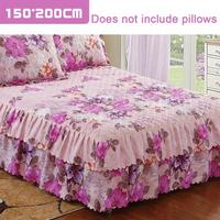 High Quality Winter Queen Size Bed Cover Floral Print Quilted Thickened Chandler Bed Cover Bed Sheet Multi Size