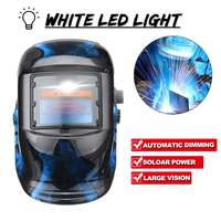Solar Power Automatic Dimming Welding Helmet Welders Len Grinding Mask With LED Light Button Adjustment