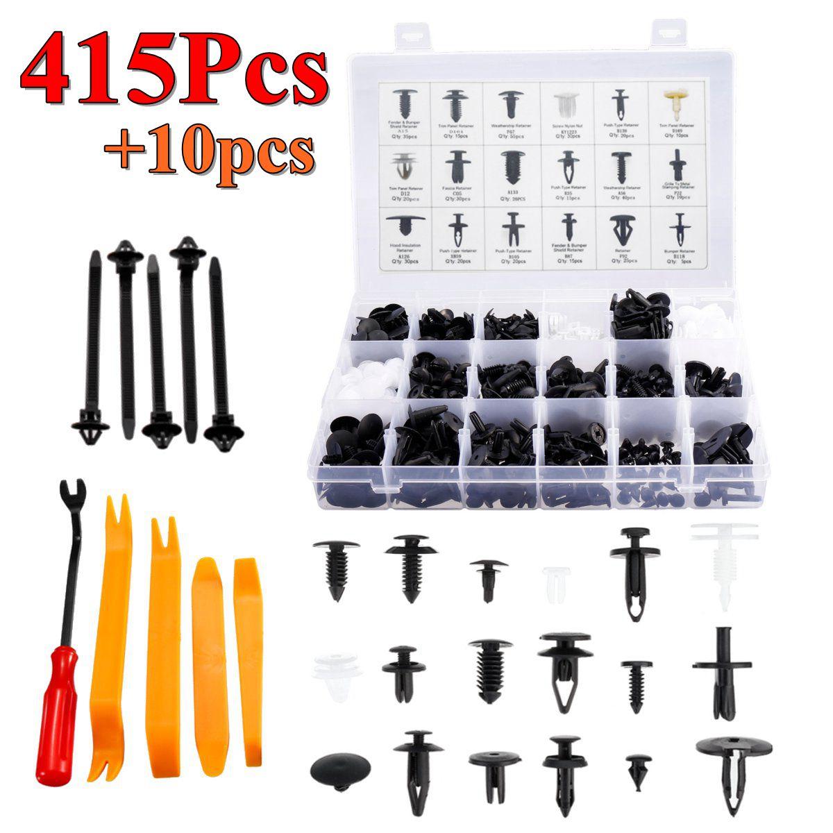 415pcs Car Push Pin Rivet Bumper Door Panel Clips Retainer Fastener Kit For Ford