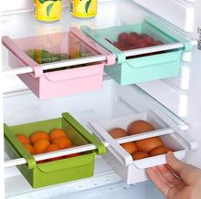 2pcs/set Creative Fridge Storage Rack With Layer Refrigerator Plastic Storage Holder Space saver Pull-out Drawer Organizer box