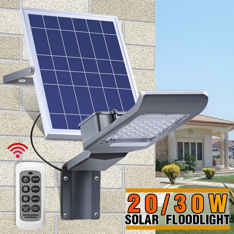 Solar Light Outdoor LED Solar Street Light with Long Rod 20/30W Light sensor/remote control Waterproof for Yard Garden Wall LampSolar Light Outdoor LED Solar Street Light with Long Rod 20/30W Light sensor/remote control Waterproof for Yard Garden Wall Lamp