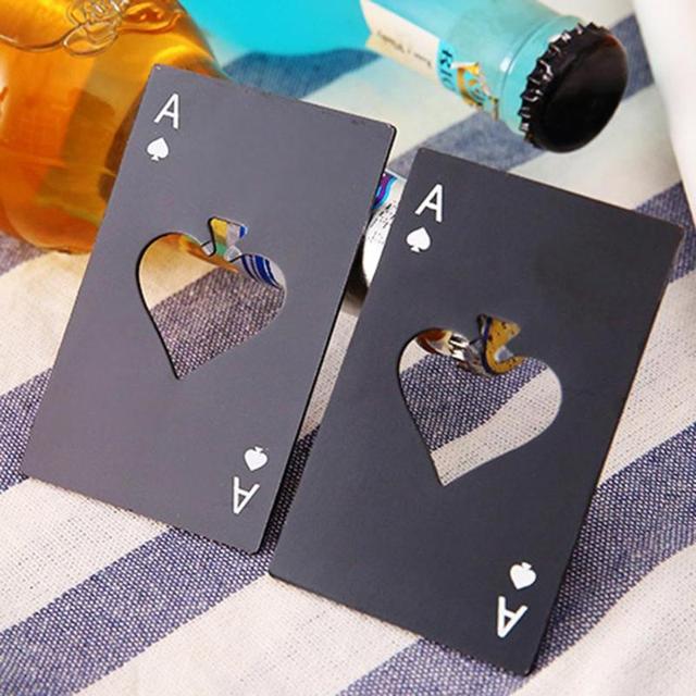 Abrebotellas de cerveza de póker negro personalizado, herramientas de cocina, accesorios para licor, novedad de 2019