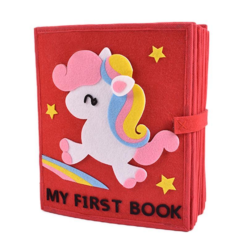 Mon premier livre enfants calme tissu livre Non-tissé matériel paquet ensemble éducation précoce Montessori illumination bricolage Puzzle livres