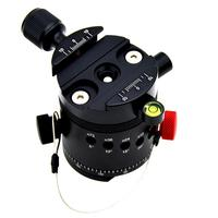 DH 55 Panoramic Ball Head Tripods Head With Indexing Rotator With Quick Release Plate &Clamp