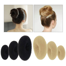 3 Sizes Women Magic Hair Shaper Donut Style Ring Buds Accessory Tools Black Brown Beige Sticks Fashion