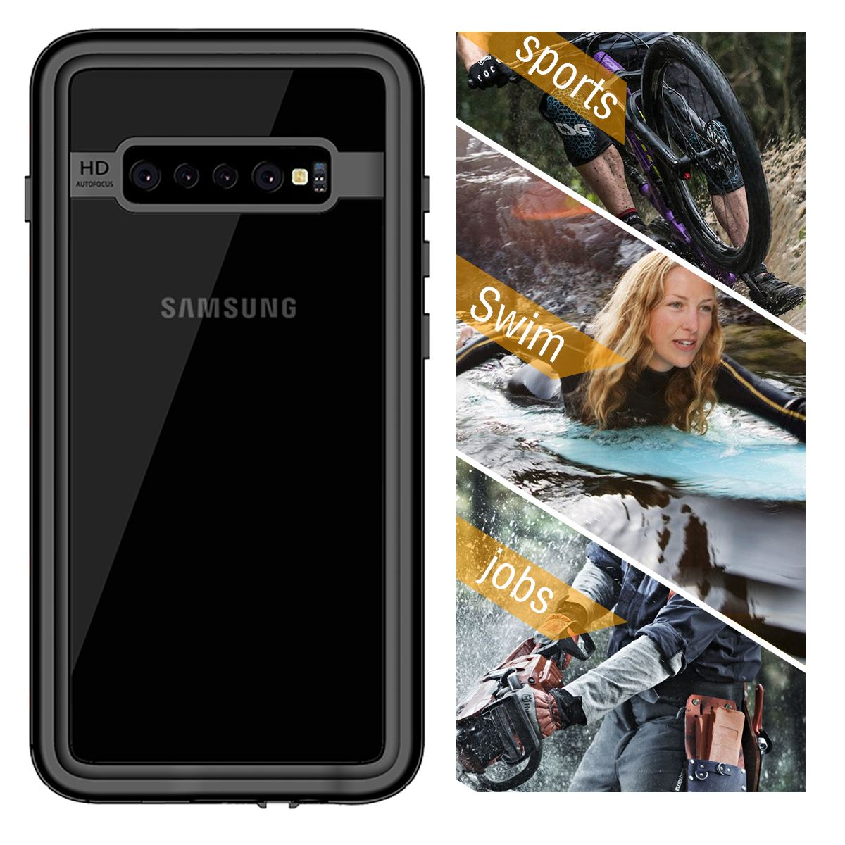 For Samsung Galaxy S10 5G Case IP68 Waterproof 360 Degree Protection Shockproof Underwater Cover For Samsung S10 Plus S10 Case
