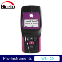 Nicety WS 120 Handheld Professional Multifunction Industrial Wall Detector Metal Wood Cable Wire Stud Finder Scanner LED Beep GR