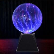 4/5/6/8 Globe de cristal magique lampe de bureau boule de Plasma 8 w 12 v tactile nébuleuse lumière décoration pour les fêtes à la maison café Bars