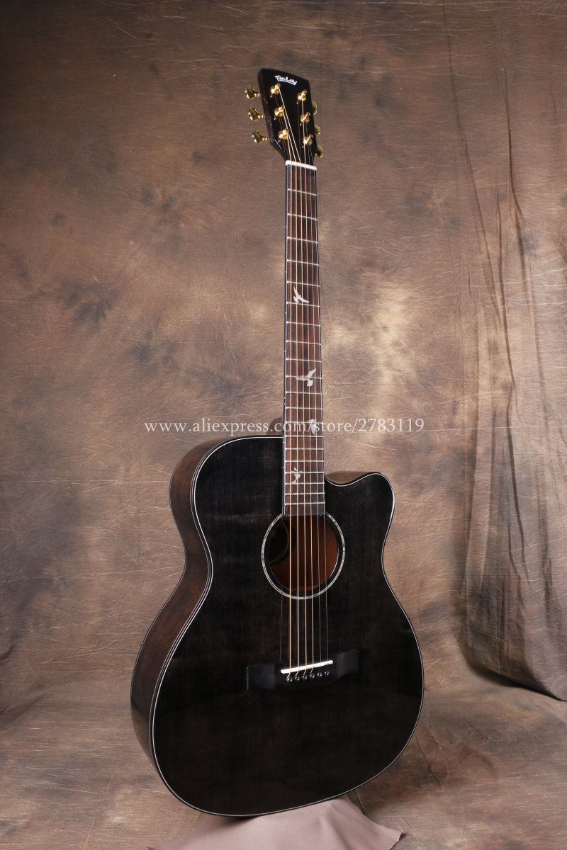 finlay 40 cutaway acoustic guitar solid spruce top mahogany body guitars china with hard case. Black Bedroom Furniture Sets. Home Design Ideas