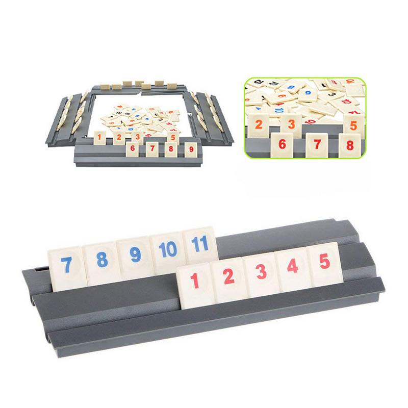 Original Digital Game Israel Mahjong Fast Moving Rummy Tile Family Game Travelling Version Classic Board Game Tile Family Travel