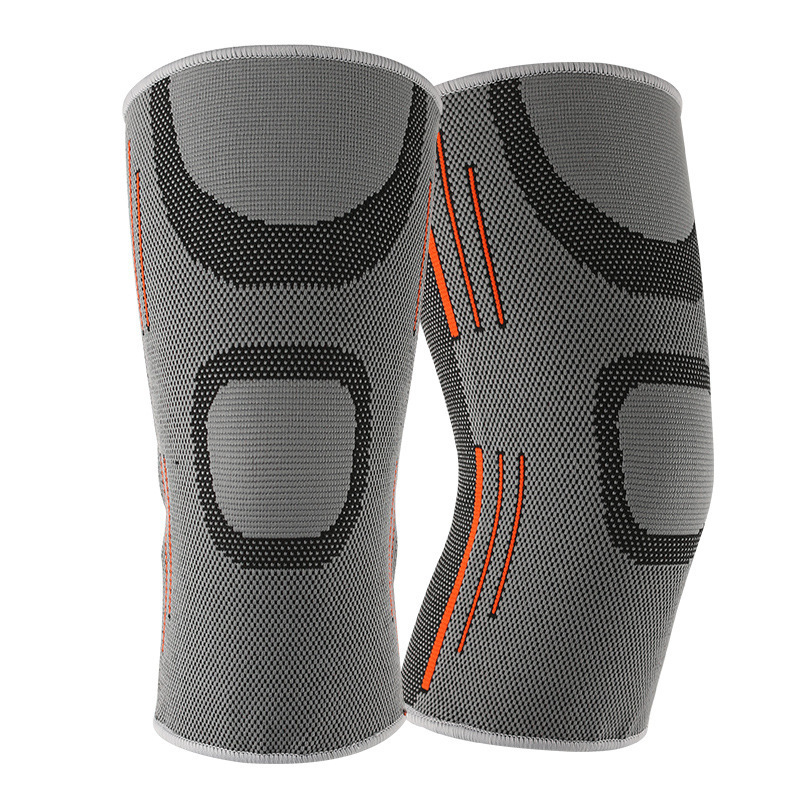 Sports Leg Knee Compression Sleeve Support Fitness Gym Running Joint Pain Relief Geometric Printing