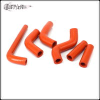 Silicone Radiator Coolant Reinforced Hoses Kit For KTM EXC400 EXC450 EXC525 02 06 MX Enduro Dirt Bike Racing Offroad Motorcycle