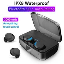 C3 TWS 100% Waterproof Headset Bluetooth 5.0 Headphones Touch HD Call Bass Earbuds In Ear Earphone Handsfree Wireless Earphones