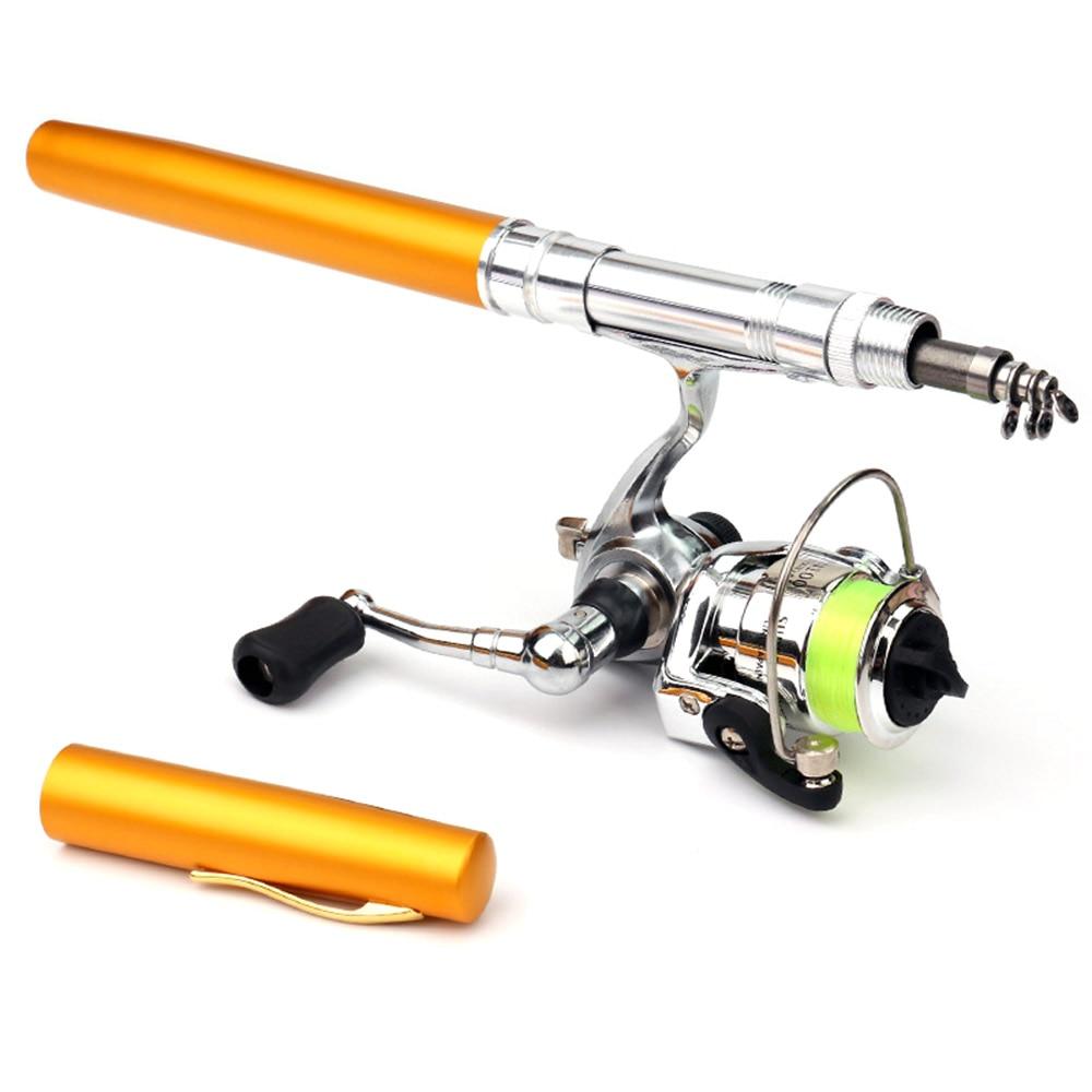 Portable Pocket Telescopic Mini Fishing Pole Pen Shape Folded Fishing Rod With