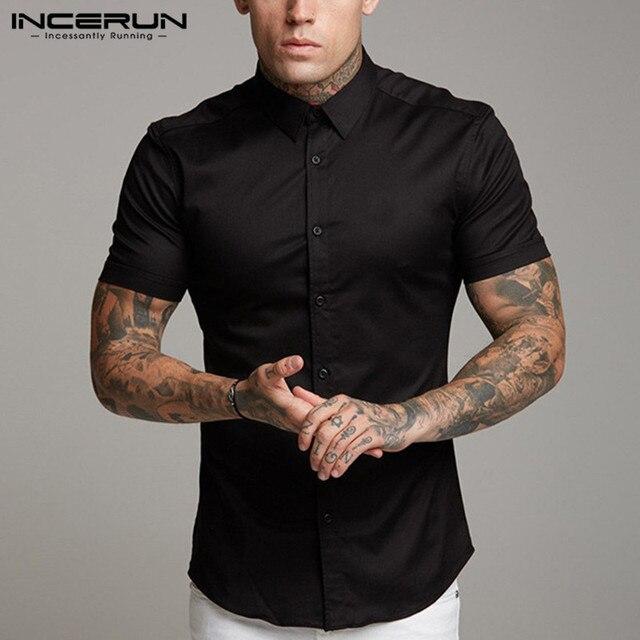 Elegant Plain Shirt Men T-shirts / Shirts color: Black|White