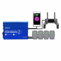 Aluminum Alloy USB Charger 6 IN 1 Fast Smart Battery Charging Hub For DJI Mavic 2 PRO / ZOOM