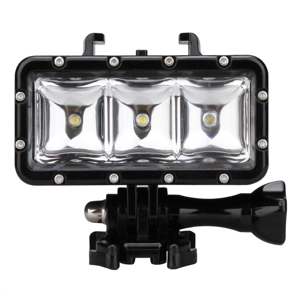 30M Waterproof LED Driving lamp video light for GoPro Hero 4 3+ 3 Sports Camera Black30M Waterproof LED Driving lamp video light for GoPro Hero 4 3+ 3 Sports Camera Black