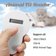 Portátil ISO11785/84 FDX-B del Chip RFID lector perro Chip lector gato lector para animales Microchip escáner para perro gato