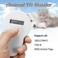 Portable ISO11785/84 FDX B Pet RFID Chip Reader Dog Chip Reader Cat Reader For Animals Animal Microchip Scanner For Dog Cat