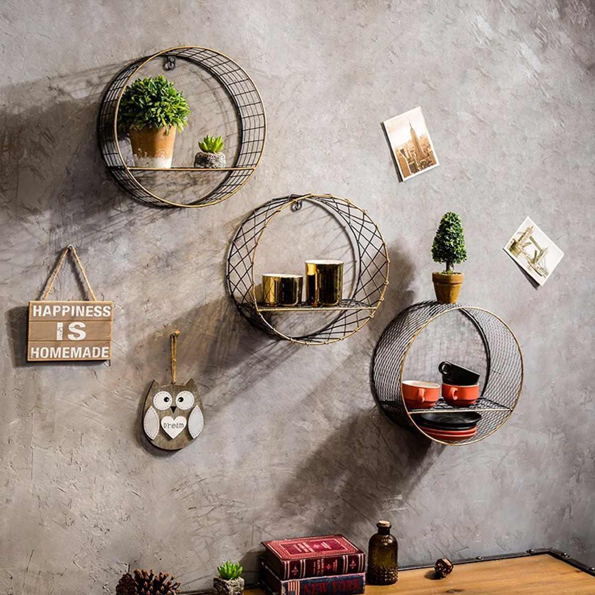 Wall Hanging Shelf Rack Modern Nordic Decorative Bookshelf