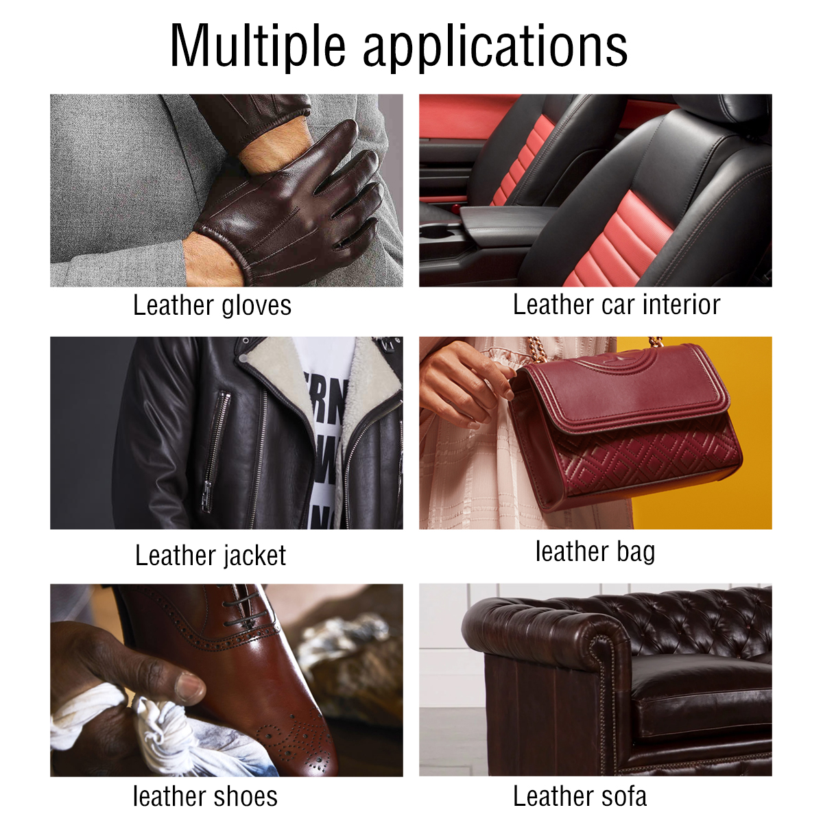 Image 2 - Auto interior Advanced care Leather Moisturizing protectant Essence For Car Interiors/Furniture +12pcs Soft Waxing Foam Sponge-in Leather & Upholstery Cleaner from Automobiles & Motorcycles