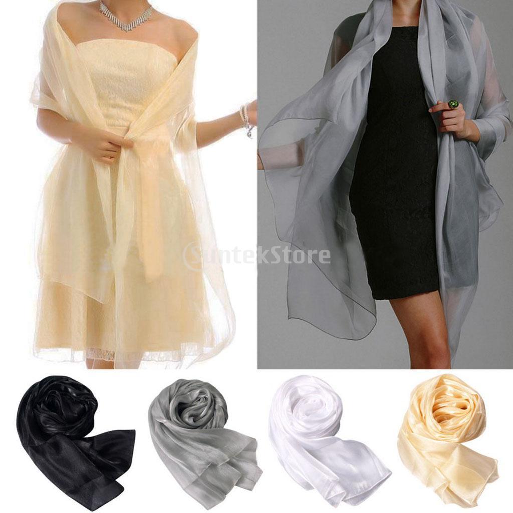 Fashion Pashmina Lady Women Long Soft Wrap Lady Shawl Organza Chiffon Scarf Scarves For Weddings Bridal Bridesmaids Wear Evening