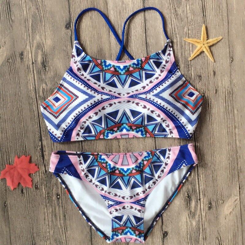 Swimwear Women Padded Bikini Brazilian Swimsuit Set High Neck Bikini Set Bathing Suit Maillot De Bain Femme 2019 Sexy Swimsuit