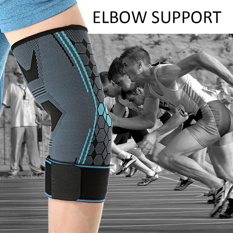 Sports Safety 1pcs Elbow Support Elastic Gym Sport Elbow Protective Pad Absorb Sweat Sport Basketball Arm Sleeve Elbow Brace Elbow Workouts Low Price Sports & Entertainment