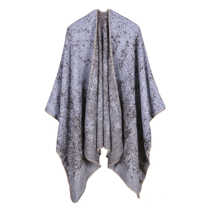 Vintage 2019 new brand Europe and America Street women poncho winter scarves thick warm coat female echarpe foulard lady caps in Women 39 s Scarves from Apparel Accessories