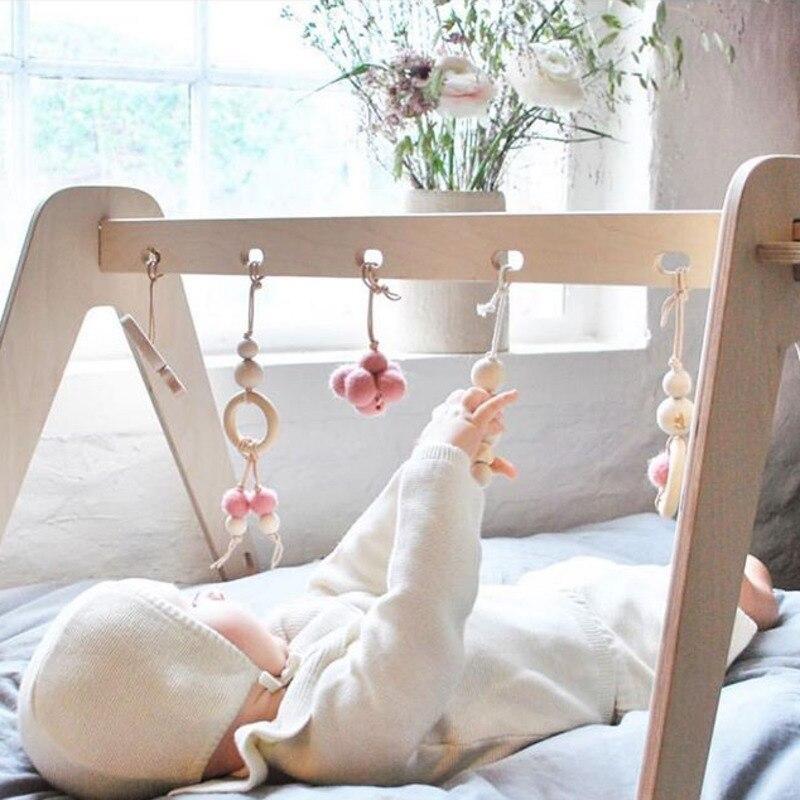 Moderne en bois bébé activité Gym bébé jouer Gym cadre bébé douche cadeau chambre décor Montessori sensoriel cadeau