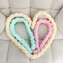 1OC Hot Sale Fashion Soft Comfortable Baby 0 -24 Months Colorful Soft Knot Kisses Smooth Cradle Bumper Decorative Bedding Kisses green kisses