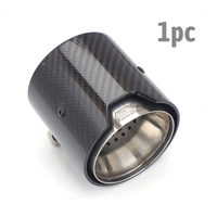 73MM IN 93MM OUT Car Exhaust tip Real Carbon Fiber For BMW M Performance exhaust pipe M2 F87 M3 F80 M4 F82 F83 M5 F10 M6
