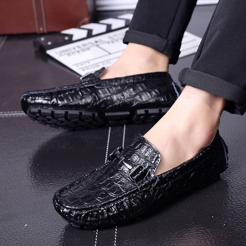 Men Loafers Shoes Genuine Leather Moccasin Slip On Loafer Men's Casual Boat Shoes Male Lofers Flats Fur Moccasins Driving Shoes black real leather 2017 mules summer brown european loafers men genuine shoes moccasins half male casual slip ons hot sale