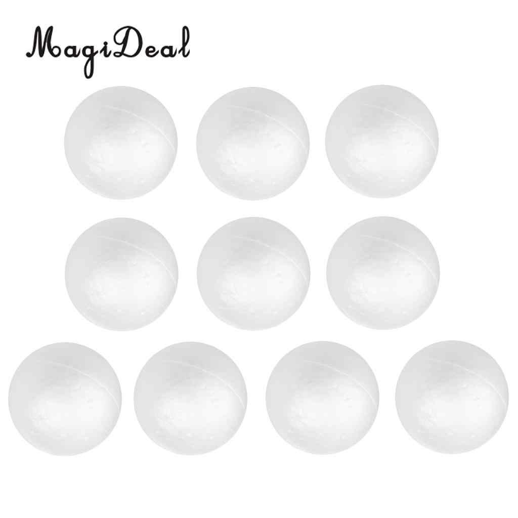 MagiDeal 10 x White Christmas Modelling Polystyrene Foam Ball Sphere 10cm  White Craft Balls For DIY Christmas Party Decoration