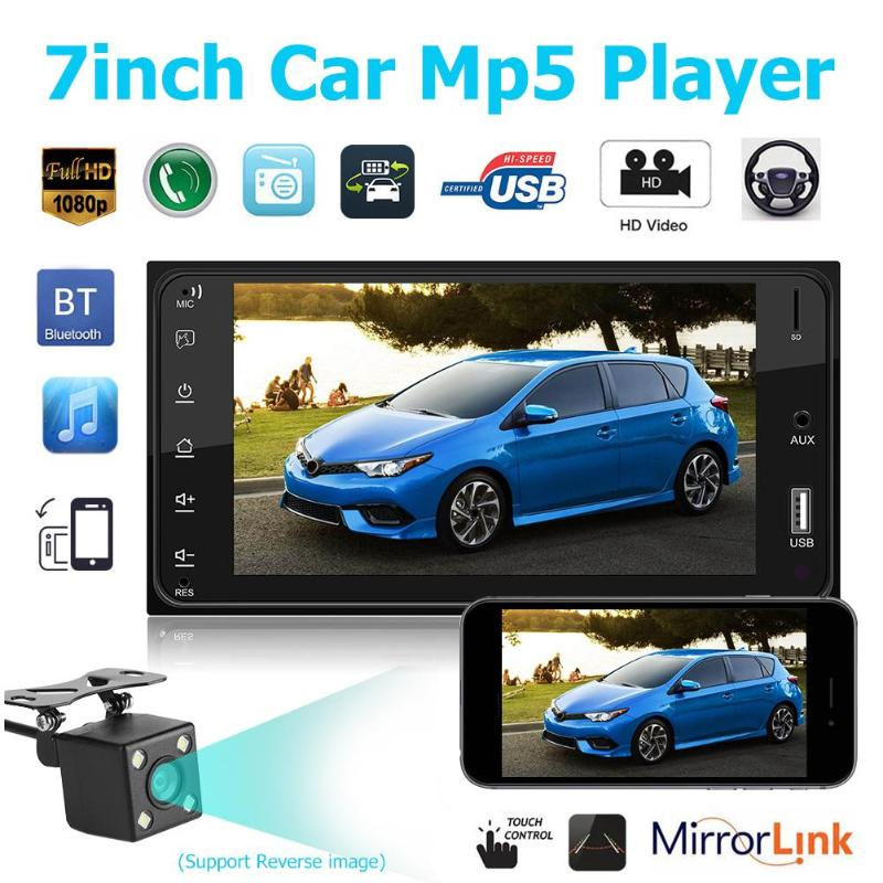 7Inch Touch Car Stereo MP5 Player FM Radio AUX USB BT Music Player Head Unit Car Rear View Auto Audio for Corolla Mirrorlink USB