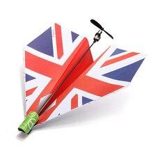 High Quality Outdoor Sports DIY Folding Elect ric Power Paper Aircraft Conv ersion Kit Toy Gift Airplane Model Educational Toys бесплатная доставка diy kit электронные производство ltc1608aig pbf ic a d conv 16bit samplng 36 ssop ltc1608aig 1608 ltc1608 1 шт