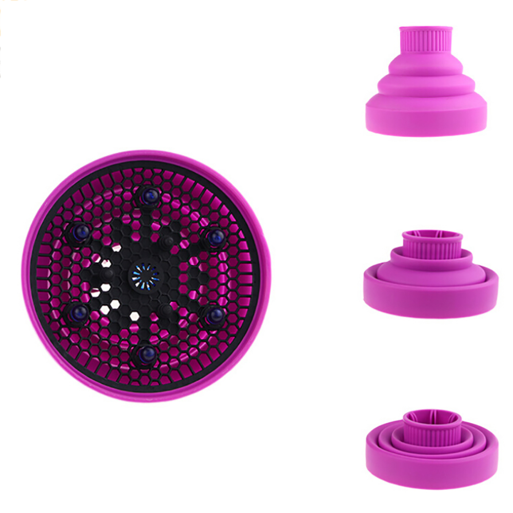 Silicone Universal Hair Diffuser Blower Hairdressing Salon Curly Hair Folding Diffuser Cover 4 Colors 4