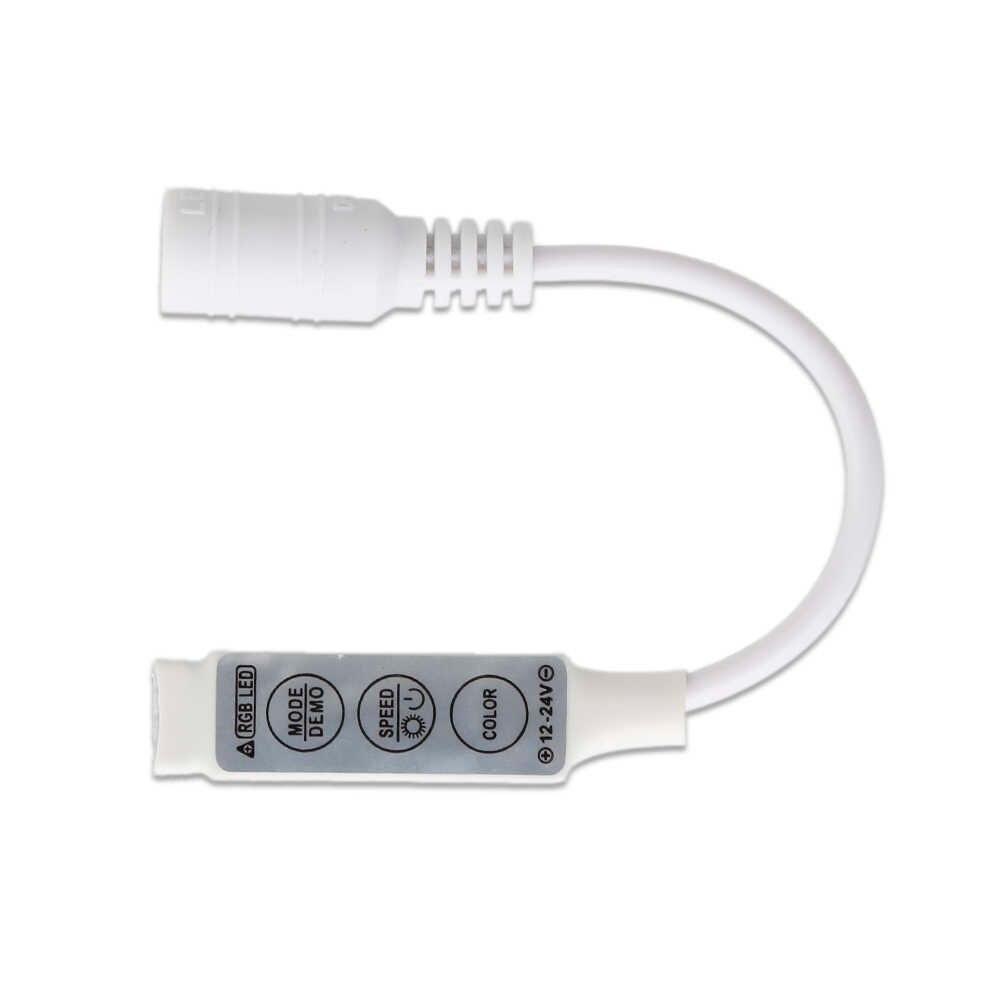 Kontroler Led 3 kanały 3 klawisze kontroler LED RGB kontroler światła zdalna regulacja ściemniania DC12V-24V Mini kontrolery lampa światła Dropship