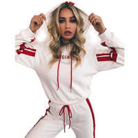 2019 Women's Sports Suits Sexy Tracksuit Women Jogging Suit 2 Two Piece Set Sportswear Track Suit Women Sport Set Workout