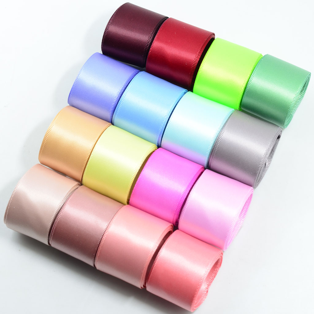 25m 40mm Full Roll Double Sided Satin Ribbons Cake Decor Trimming Arts /& Craft