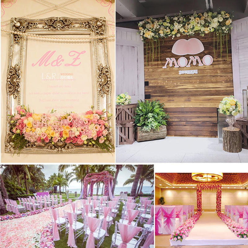 Image 4 - 1M Road cited artificial flowers row wedding decor flower wall arched door shop Flower Row Window T station Christmas Flores-in Artificial & Dried Flowers from Home & Garden