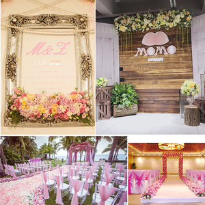 Image 4 - 1M Road cited artificial flowers row wedding decor flower wall arched door shop Flower Row Window T station Christmas Flores