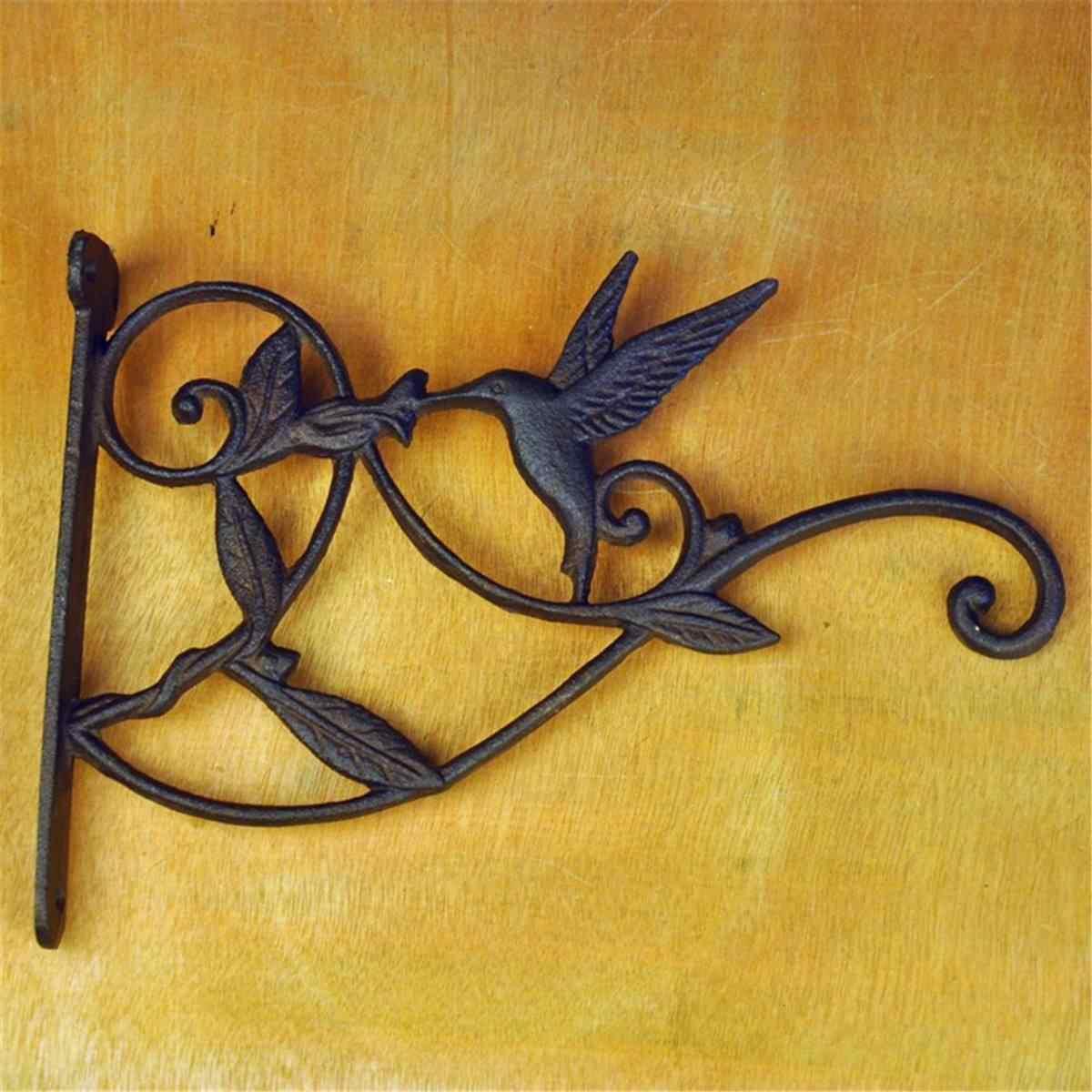 Уличный садовый горшок, черный Кронштейн для колокольчиков, Чугунные Садовые подвесные крючки для корзин, вЕтряный фонарь, Настенный декор