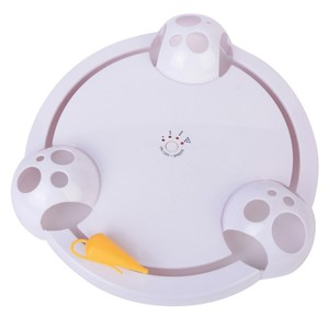 Interativa Brinquedos Gato de Estimação Gato Engraçado Automática Rotativa Teaser Do Jogo Do Gato Placa Brinquedo Ratos Pegar Elétrica Jogando Brinquedos Exercício